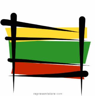Lithuania Brush Flag Statuette