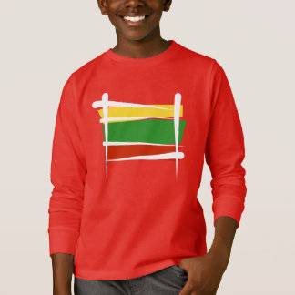 Lithuania Brush Flag T-Shirt