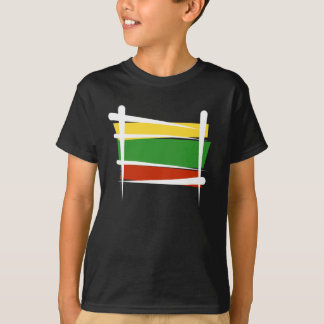 Lithuania Brush Flag T-Shirt