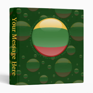 Lithuania Bubble Flag 3 Ring Binder