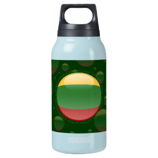 Lithuania Bubble Flag Insulated Water Bottle