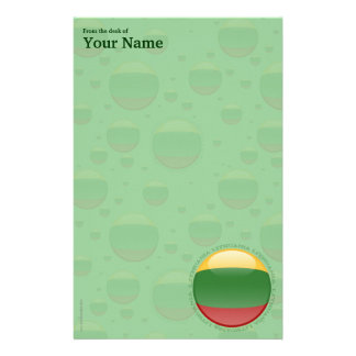 Lithuania Bubble Flag Stationery