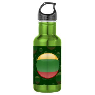 Lithuania Bubble Flag Water Bottle