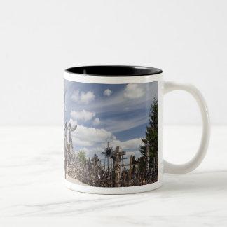 Lithuania, Central Lithuania, Siauliai, Hill 6 Two-Tone Coffee Mug