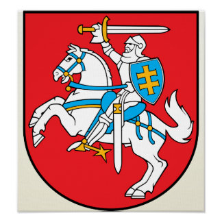Lithuania Coat of Arms detail Poster