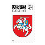 Lithuania coat of arms stamp
