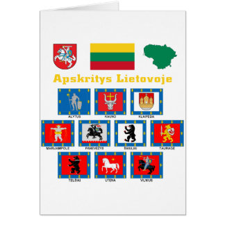 Lithuania County Flags Greeting Card