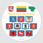 Lithuania County Flags Classic Round Sticker