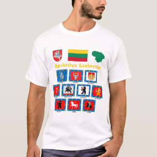 Lithuania County Flags T-Shirt