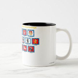 Lithuania County Flags Two-Tone Coffee Mug