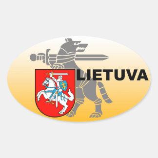 Lithuania Defense Ministry Sticker! Oval Sticker