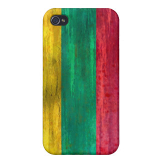 Lithuania distressed Lithuanian flag Cover For iPhone 4