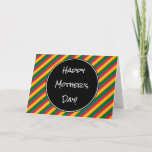 """[ Thumbnail: Lithuania Flag Colors """"Happy Mother's Day"""" Card ]"""