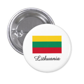 Lithuania Flag Design 1 Inch Round Button