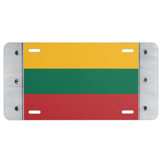 Lithuania Flag License Plate