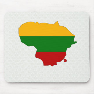 Lithuania Flag Map full size Mouse Pad