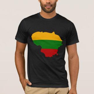 Lithuania Flag Map full size T-Shirt
