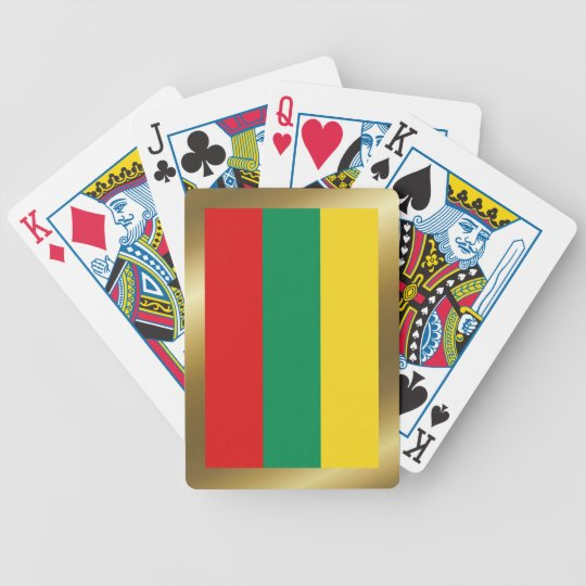 Lithuania Flag Playing Cards