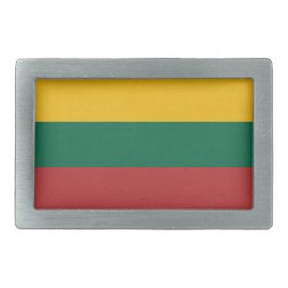 Lithuania flag rectangular belt buckle