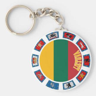 Lithuania Flags Keychain