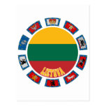 Lithuania Flags Postcard