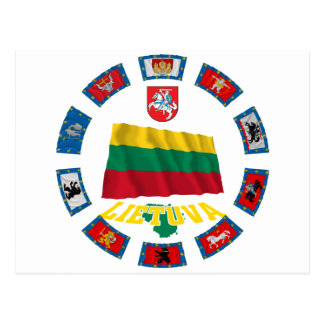 Lithuania Flags Postcards