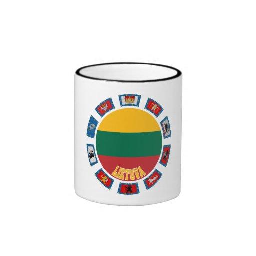 Lithuania Flags Ringer Coffee Mug