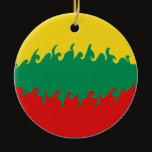 Lithuania Gnarly Flag Ceramic Ornament