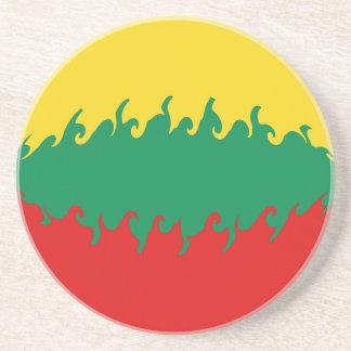 Lithuania Gnarly Flag Coaster