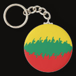 Lithuania Gnarly Flag Keychain