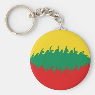 Lithuania Gnarly Flag Keychain