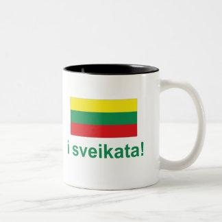 Lithuania i sveikata! (Cheers!) Two-Tone Coffee Mug