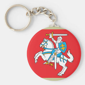 Lithuania , Lithuania Basic Round Button Keychain