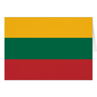 Lithuania  - Lithuanian National Flag Card