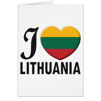 Lithuania Love Card