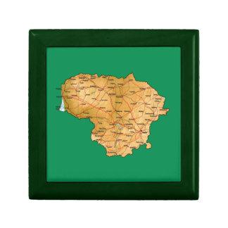 Lithuania Map Gift Box