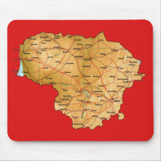Lithuania Map Mousepad