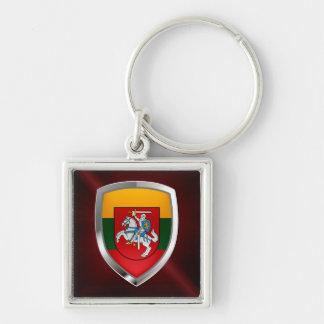 Lithuania Metallic Emblem Keychain