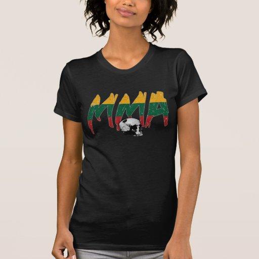 Lithuania MMA Skull Ladies T-shirt