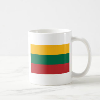 lithuania classic white coffee mug