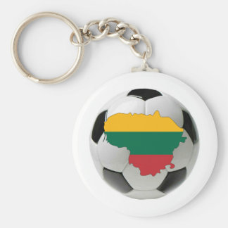 Lithuania national team basic round button keychain