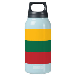 Lithuania Plain Flag Insulated Water Bottle