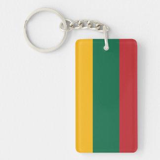 Lithuania Plain Flag Keychain