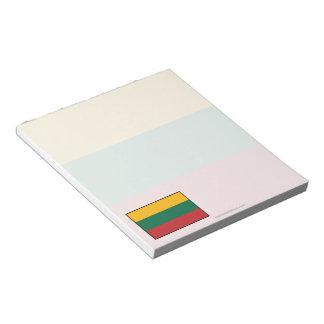 Lithuania Plain Flag Notepad