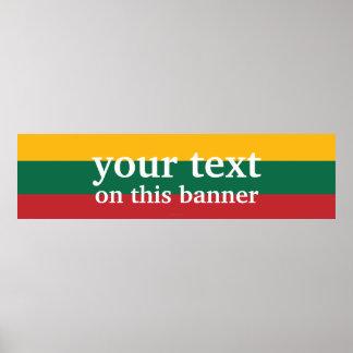 Lithuania Plain Flag Poster