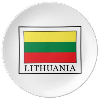 Lithuania Porcelain Plate