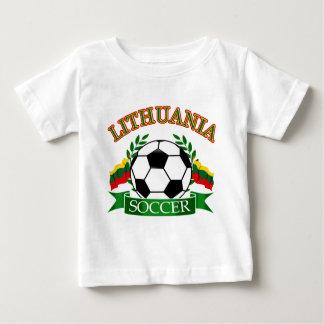 Lithuania soccer ball designs baby T-Shirt