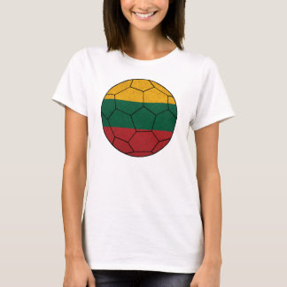 Lithuania Soccer Ball Ladies Baby Doll T-Shirt