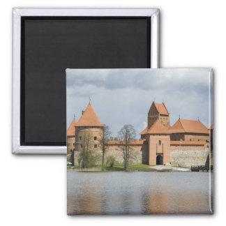 Lithuania, Trakai. Island Castle 2 2 Inch Square Magnet