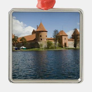 Lithuania, Trakai. Island Castle 3 Metal Ornament